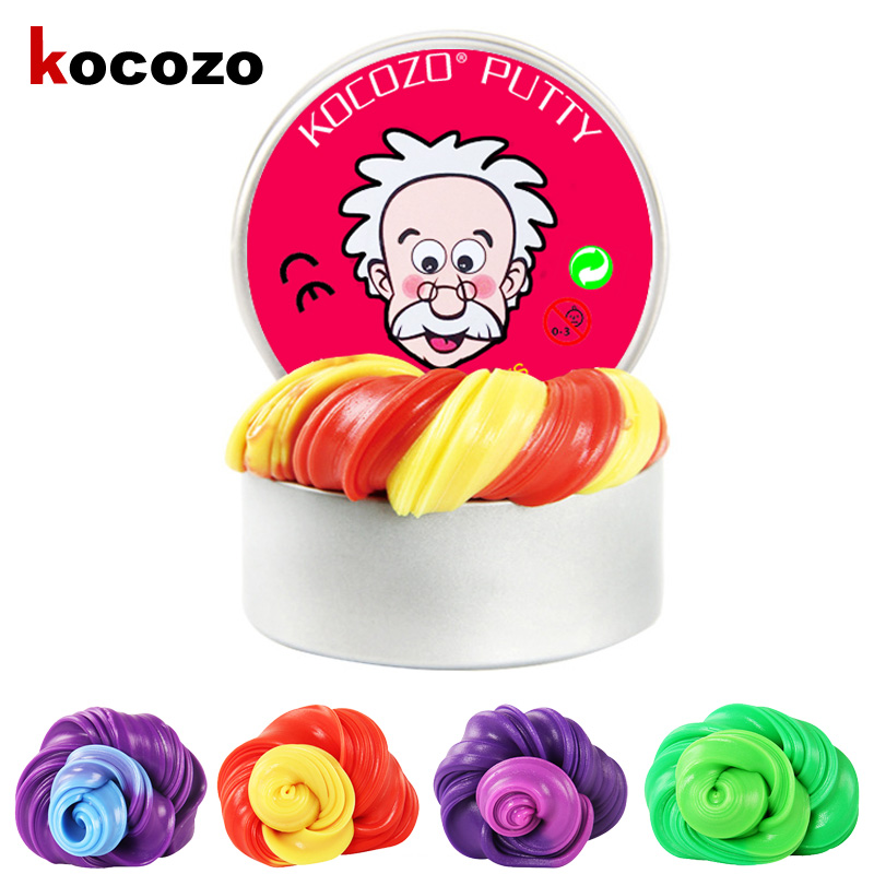 DIY Plasticine Toy Sensing Temperature Change Color Non-Magnetic Mud Slime Putty Magic Color Puzzle Toy Rubber Mud Toy Gift