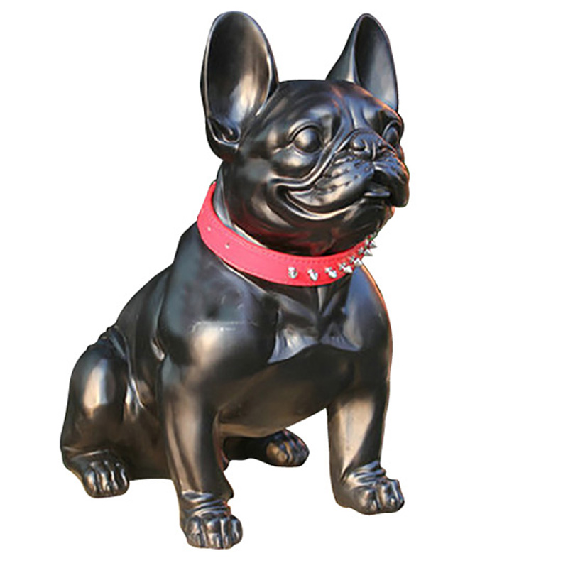 resin French Bulldog dog figurines vintage home decor crafts room decoration objects Simulation dog ornament resin animal statue