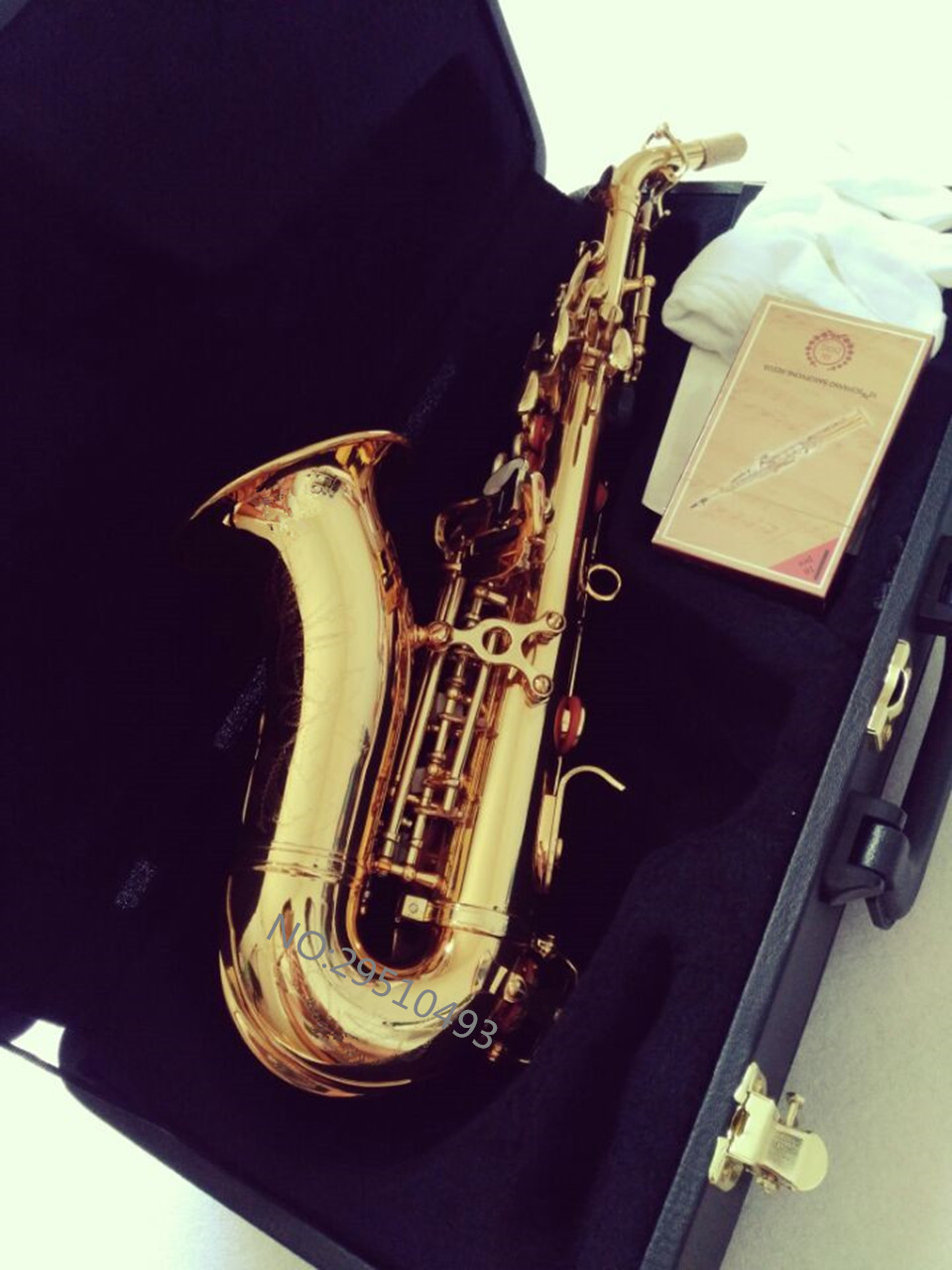 Curved Soprano Saxophone R54 Electrophoresis Gold Professional level Musical Instruments for childrens and Adults