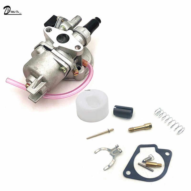 47cc 49cc motor karbüratör tamir Rebuild kiti 2 zamanlı 44-6 40-6 Mini Quad ATV kir çocuk motosikleti MiniMoto Go Kart Buggy