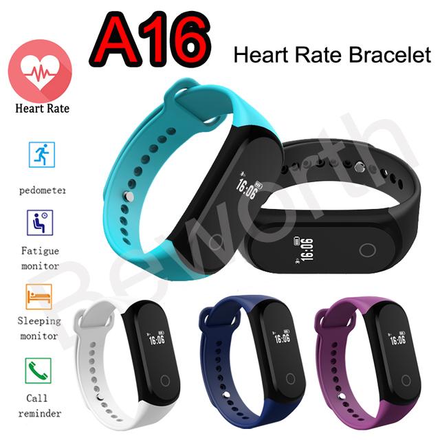 A16 Smartband 0.42 ''OLED Pulseira Banda Inteligente da Frequência Cardíaca Relógio Monitor de Sono Pedômetro Esporte BT4.0 IP67 À Prova D' Água Pulseira