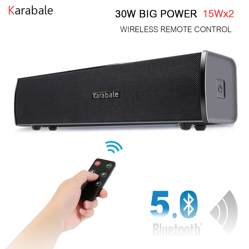 3d Hifi Bluetooth Soundbar 4 Treiber Sr100 40 W Fernbedienung Stereo Hause Lautsprecher Audio Für Tv Handy Bluetooth Lautsprecher Soundbar
