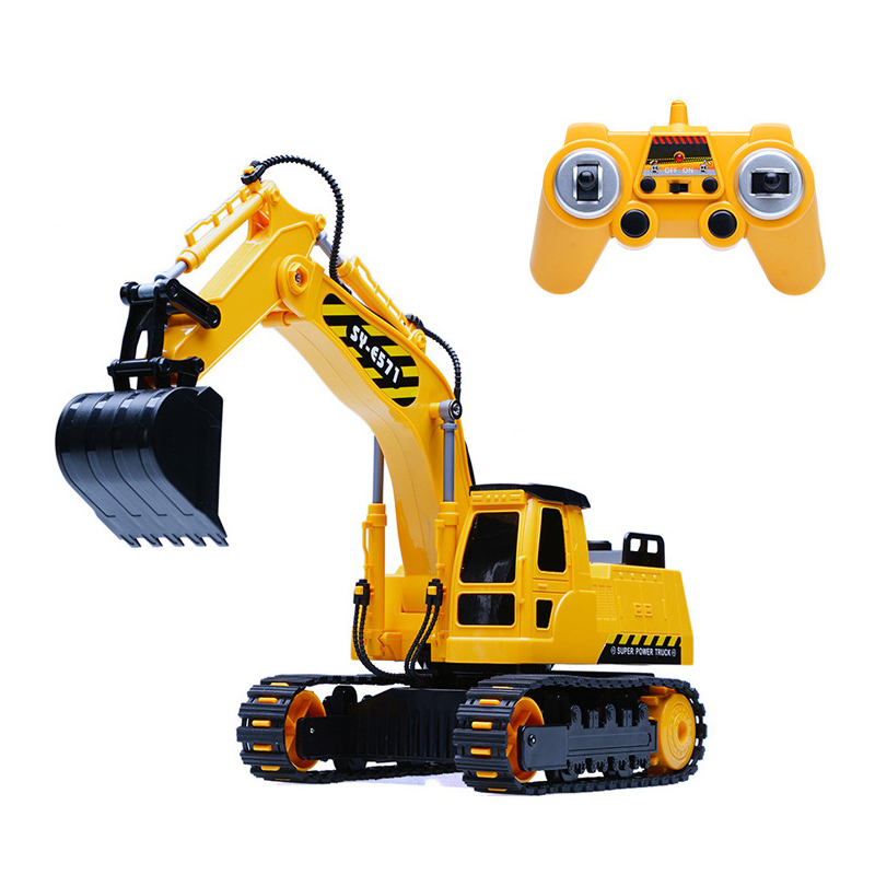 Simulation Engineering car RC excavator toys Children Boys Birthday Xmas gifts RC Engineering vehicle series truck