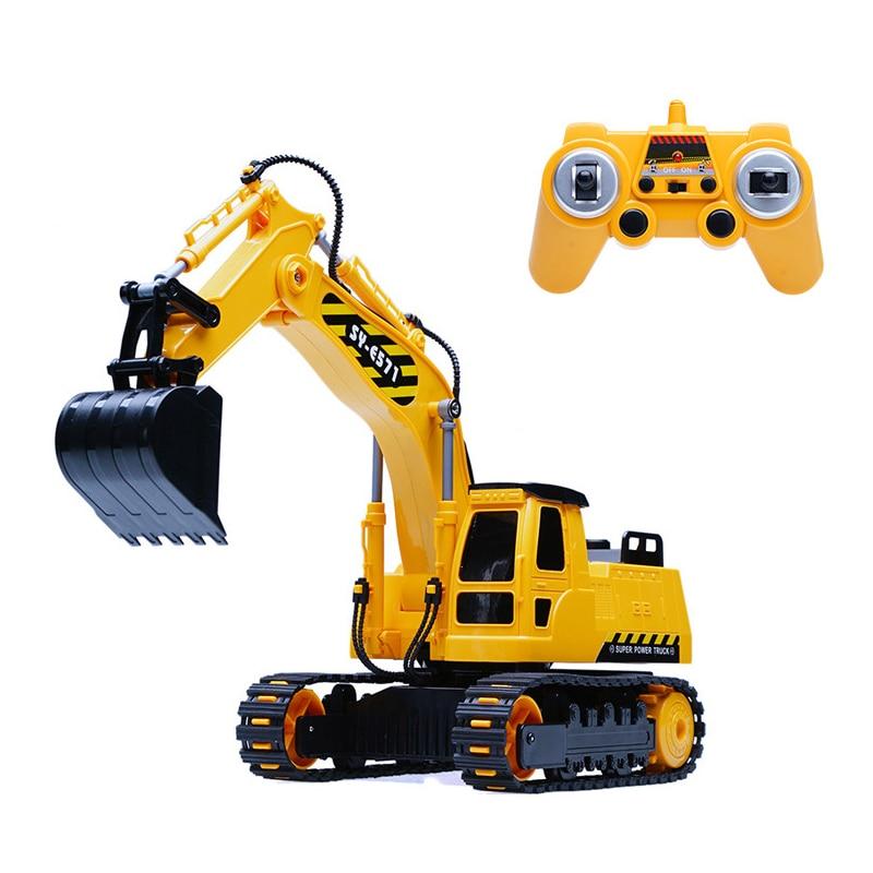 Simulation Engineering car RC excavator toys Children Boys Birthday Xmas gifts RC Engineering vehicle series truck brinquedos Экскаватор