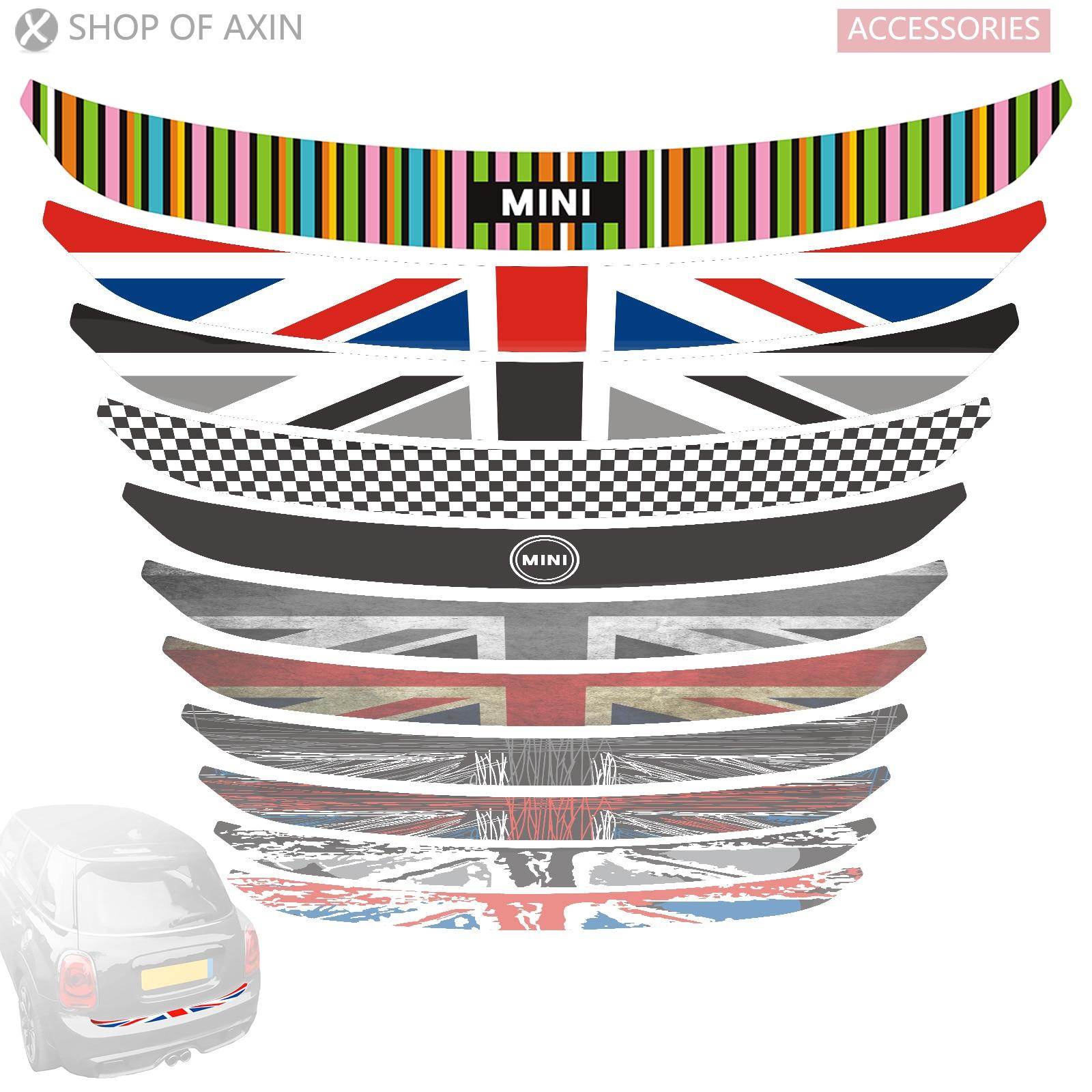Otomobiller ve Motosikletler'ten Araba Çıkartmaları'de Mini Trim Sticker arka tampon gövde yük kenar koruyucu güvenlik çıkartmaları MINI Cooper clubman countryman R55 R56 R57 R60 f55 F56