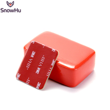 лучшая цена SnowHu for for GoPro Accessories Floaty Block Sponge with Sticker Adhesive For GoPro Hero 7 6 5 4 3+ for Xiaomi yi SJCAMGP46