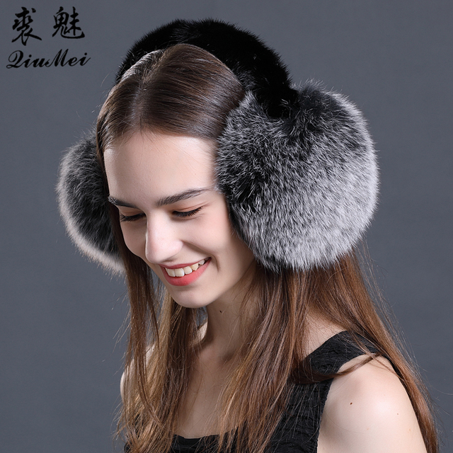 6a26d193835bd Big Fur Earmuff For Winter Warm Cute Plush Women Female Fluffy Ear Warmer  Ear Cover Headband Winter Accessories Ear muffs