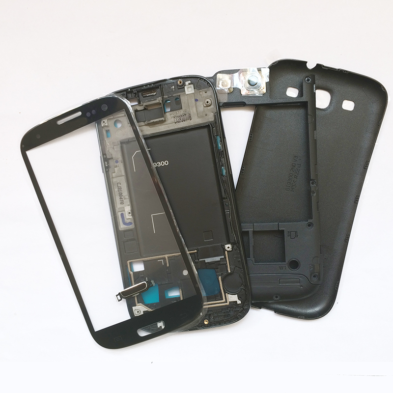 Original Replacement Chassis For Sumsung Galaxy S3 i9300 Full Housing Case Cover Glass lens Replacement Free