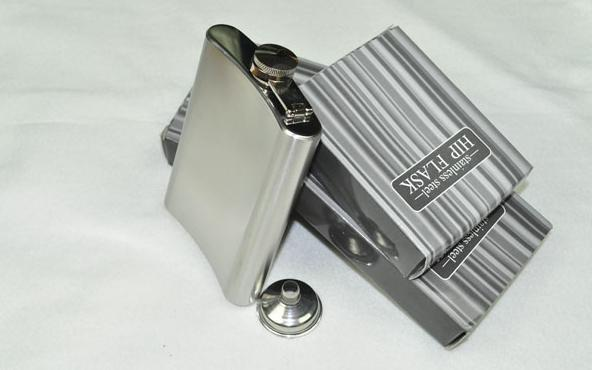 8oz Stainless Steel Hot Selling Hip Flask Pocket Bottle for Whiskey Liquor Wine Alcohol