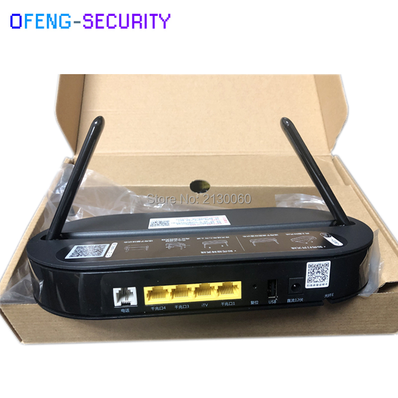 Huawei HS8145V EPON ONU ONT HGU Dual Band Router 4GE+Wifi 2.4GHz /5GHz, English Interface With Power Adapter