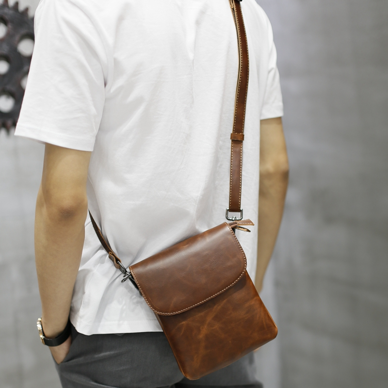 Gumst Fashion New Design Men Bags Handbag Crazy Horse Pu Leather Bag Small Shoulder Handbags Male Messenger Crossbody