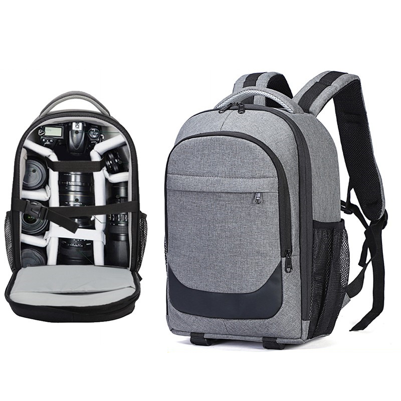 Backpack Laptop Canon Shoulder-Bags Travel Nylon for Nikon/Travel/Shockproof/.. Mochila