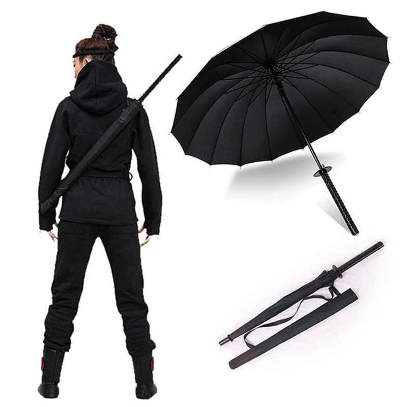 Мужской длинный рукав самурайский Зонт нож аксессуар-зонтик ручка женский большой Ветрозащитный Зонт-самурайский меч ручной открытый