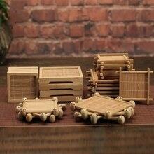Мульти-дизайн Изолированный подстаканник чайная чашка коврик бамбуковая чашка коврик для чайного стола Украшение чайной церемонии Японский чай ism декоративный