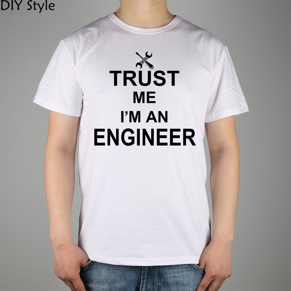 TRUST ME OI AM A INGINEER Camiseta Top Lycra Cotton Men camiseta - Ropa de hombre - foto 2