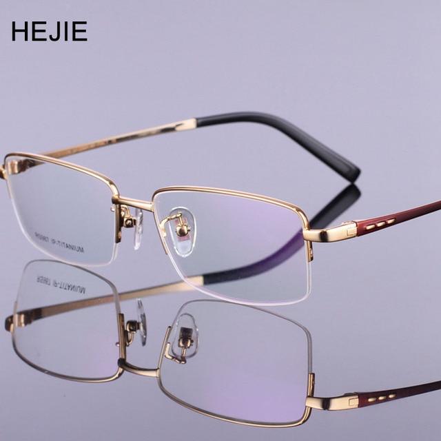 4ec29932a7 Men Pure Titanium Eyeglasses Frames Brand Myopia Glasses Frame For Male Size  55-17-