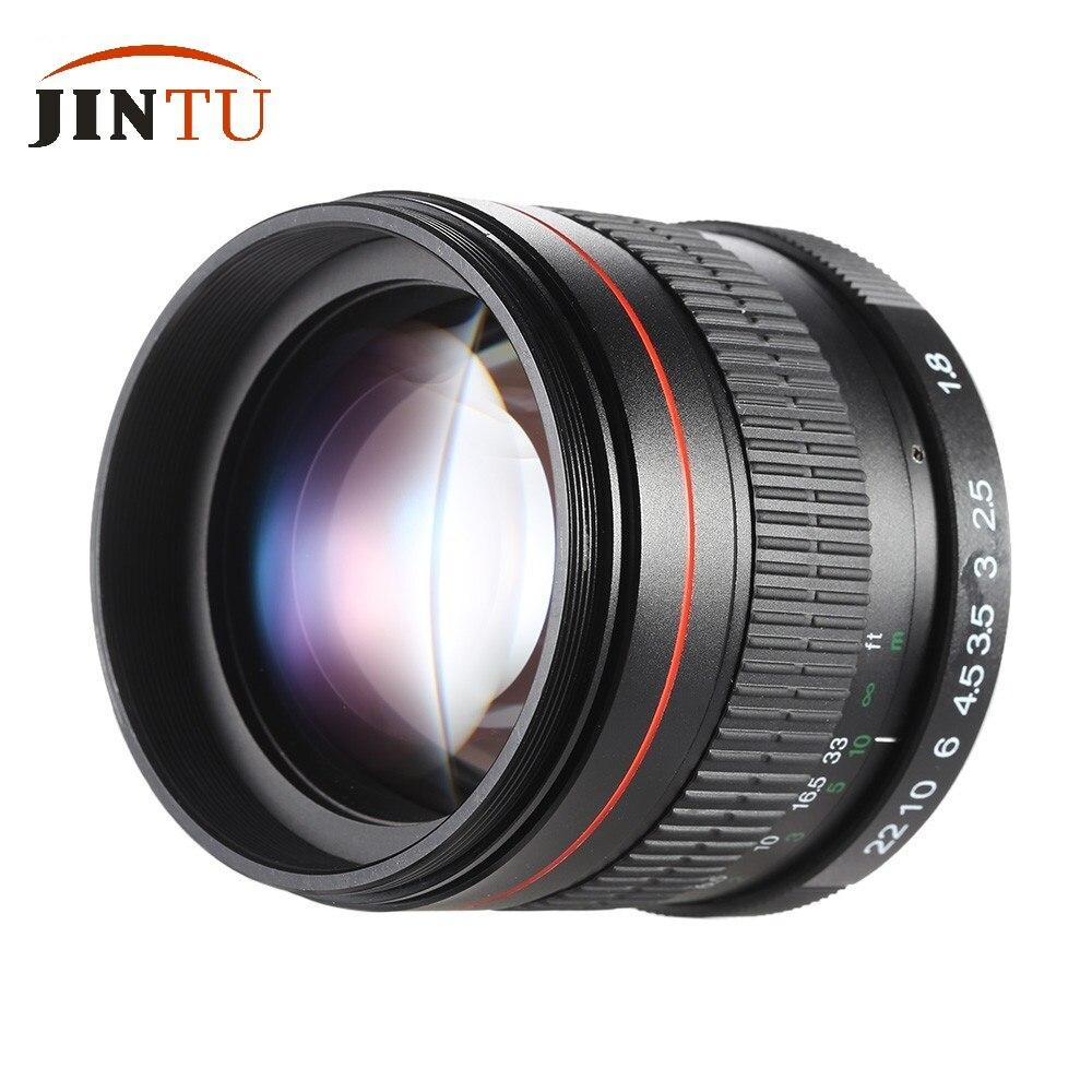 JINTU 85mm F1.8 Super Mise Au Point Manuelle Portrait Objectif pour Canon EOS T5i T4i T3i T2i T1i XTi XS 750D 5DII 5D3 5DIV 7DII 6DII Caméras