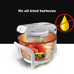 Glass Oil-free Air Oven Intelligent Light Wave Microven 1300W Automatic Power Off Protection 220V Air Oven CKY-888