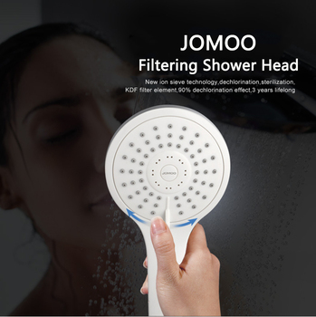 JOMOO ABS Material Chrome Finish Bathroom Shower Set Hand Shower with Slider Bar bath shower Head and 1.5M Stainless Steel Hose