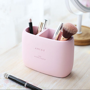 Image 1 - 1 Pcs High Quality Pen holder Office Organizer Cosmetic Pencil Pen Holders Resin Stationery Container Office Supplies