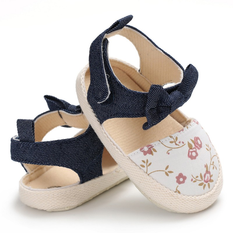 Summer Baby Girl Sandals Toddler Small Fresh Printing Princess Sandals Fashion Toddler Shoes For Girls