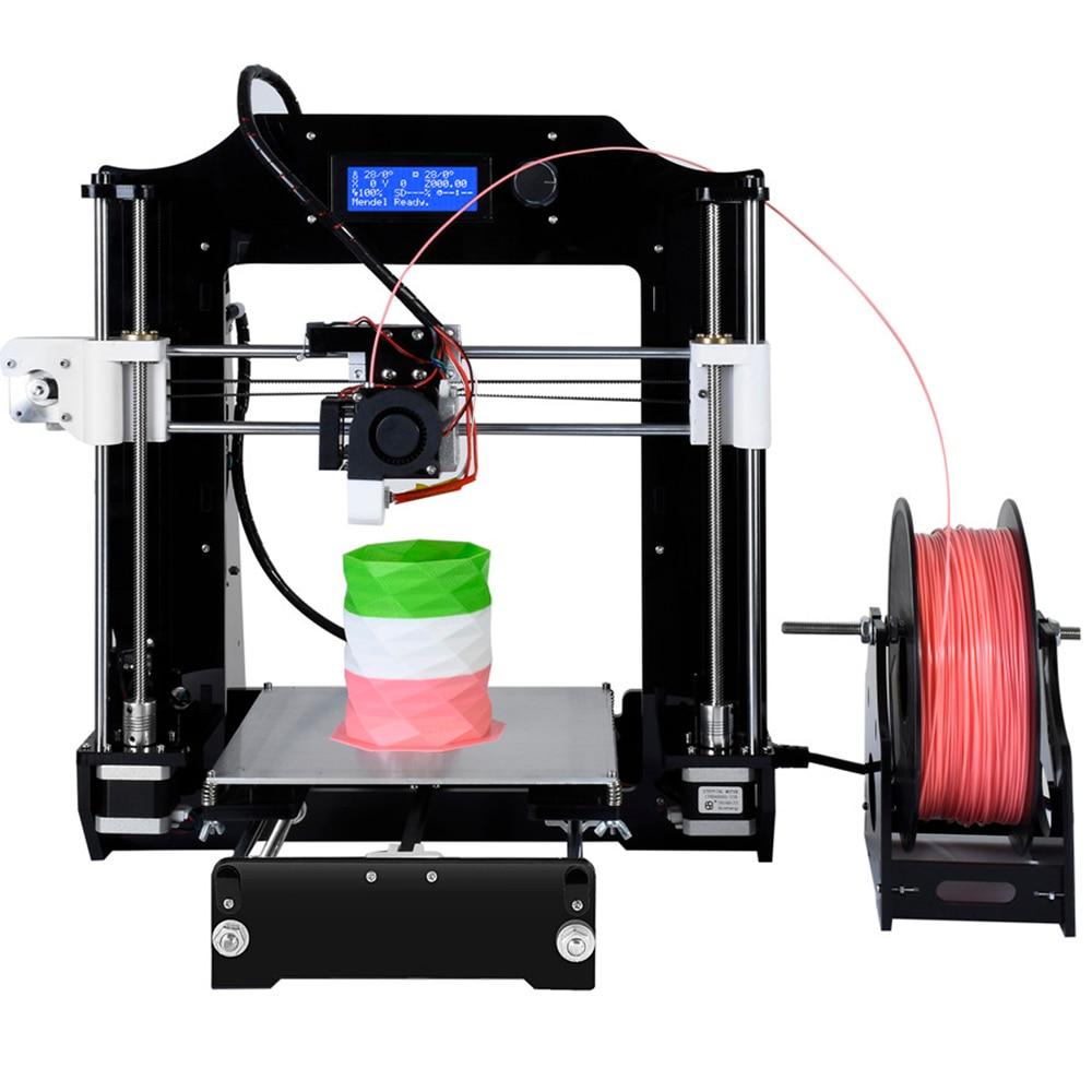 Newest Upgraded Reprap Prusa i3 3D Printer kits High Quality Desktop CNC Full colors 3d printer with 1 Roll filaments STL Files