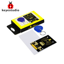 Free shipping!Keyestudio MFRC522 (Orginal Chip) Kit RFID Module+ IC Card + Key Rings for Arduino UNO R3 MEGA 2560