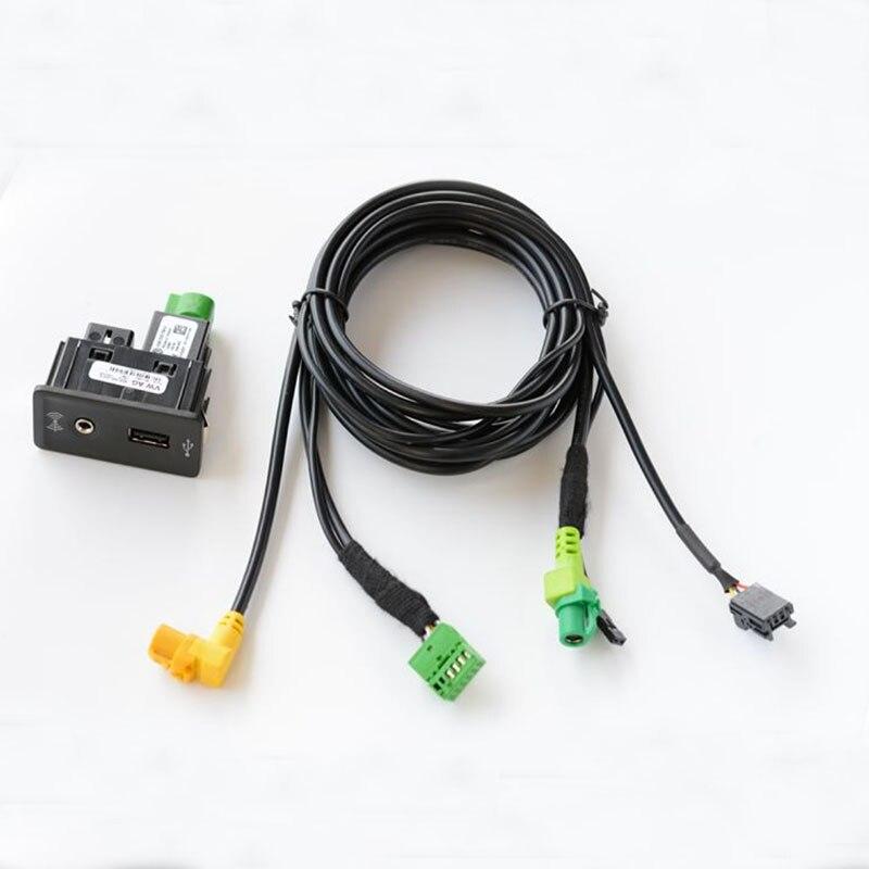 CarPlay MDI USB Aux AMI Install Plug Socket Harness Fit For golf 7 mk7 5G0 035 222 E 5G0035222E carplay mirror link mib carplay usb aux in socket harness for tiguan l mk2 5q0 035 726 e