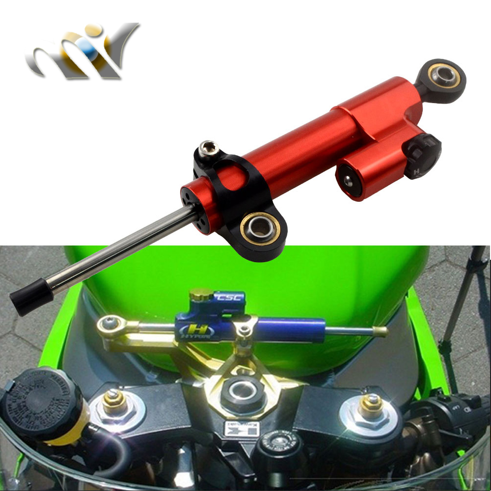 Motorcycle CNC Damper Steering StabilizerLinear Reversed Safety Control Over 600CC Bike for KTM Kawasaki Suzuki MT07