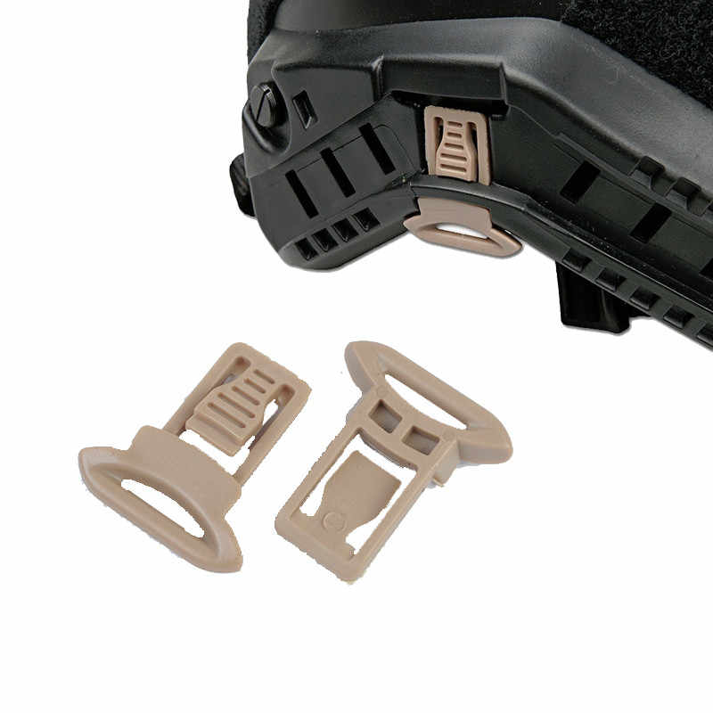 FMA Goggle Swivel Clips Set For Helmet Side Rails Airsoft Tactical Helmets Accessory Helmet Plastic Side Mount