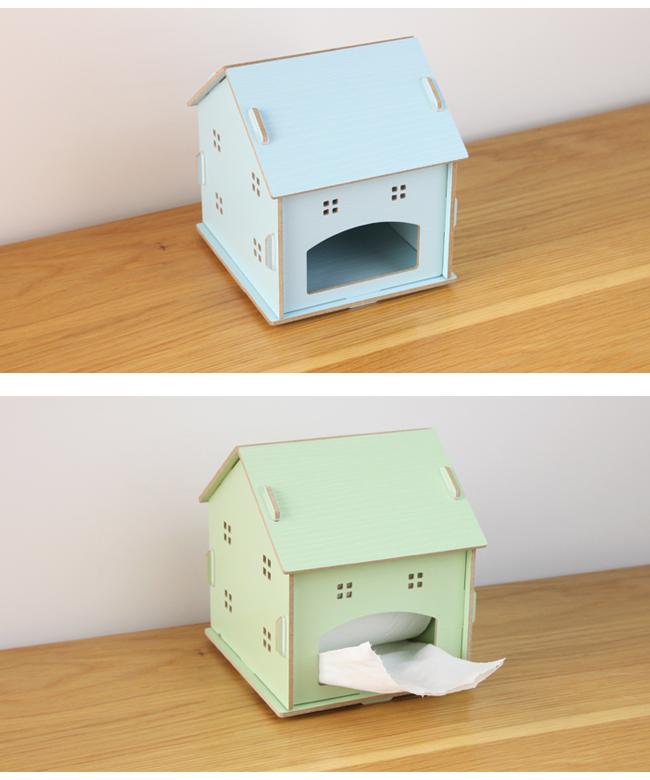 Fashion Kawaii Storage Box Small House Wooden Tissue Box Lovely Paper Box Office  Accessories Desk Orgainzer