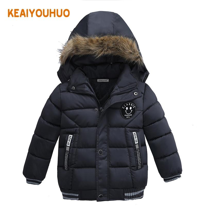 2017 New Baby Winter Coat Kids Warm Winter Outerwear Hooded fashion Children Down Jackets Boys Girls Cotton Coat