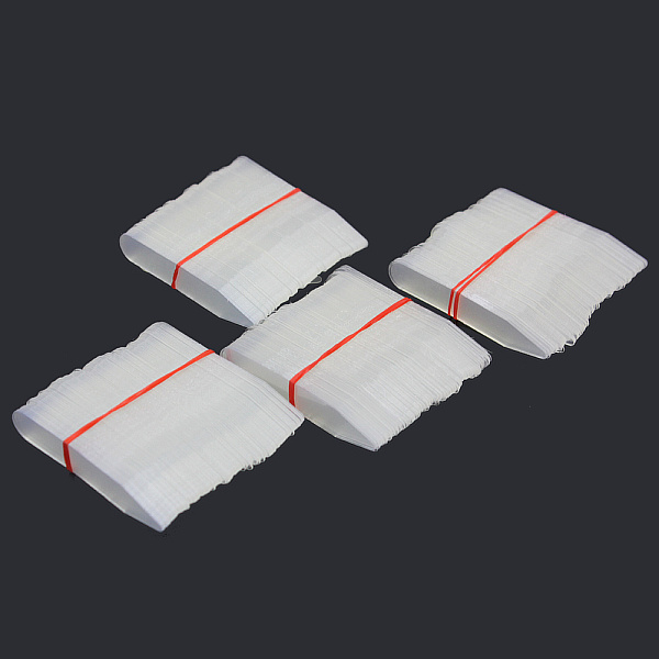200pcs Plastic White Collar Stays Bones Stiffeners In 5 Sizes