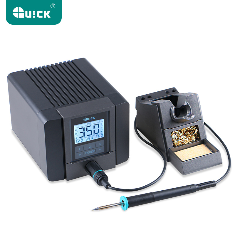 QUICK TS1200A Best Quality lead-free soldering station electric iron 120W anti-static soldering 8 second fast heating Welding 936a 70w lead free thermostat soldering station soldering tools anti static industrial electric iron welding station