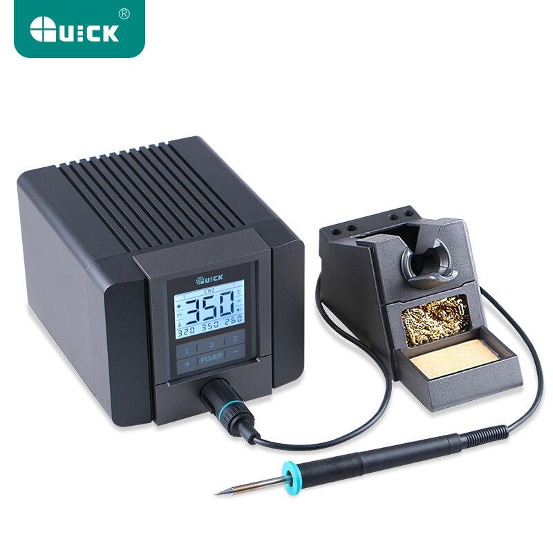 RÁPIDA TS1200A Melhor Qualidade de chumbo-livre estação de solda elétrica 120 W ferro de solda anti-estática 8 segundo rápido aquecimento de Solda