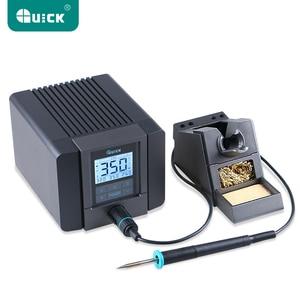 Image 1 - クイック TS1200A 鉛フリーはんだステーション電気アイロン 120 ワット帯電防止はんだ 8 高速加熱溶接 220 v