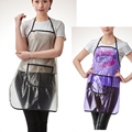 1pcs Professional Hairdressing Apron 3D Transparen Hair Cutting Aprons Barber Home Styling Salon Hairdresser Waist Cloth