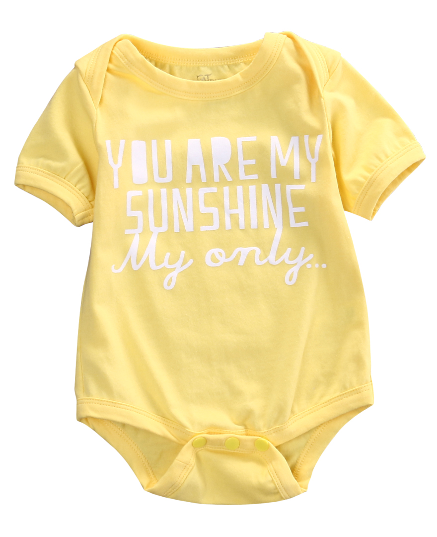 Newborn Kids Baby Girls Infant Clothes Short Sleeve Rompers Cotton Jumpsuit