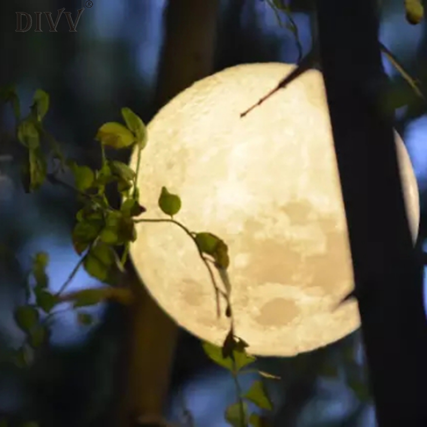 DIVV 3D USB LED Magical Moon Decoration Light Moonlight Table Desk Moon Lamp Decoration Lighting Miniature