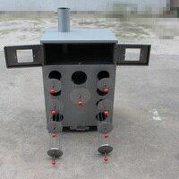 1pc 9 buraco engrossar e camadas duplas milho grelhado máquina de carvão ou madeira torrado batata doce forno máquina