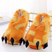 Animal Kigurumi Slippers For Kids Adults Women Men Girl Boy Cartoon Unicorn Dinosaur Pikachu Giraffe Winter Onesie Pajama Shoes