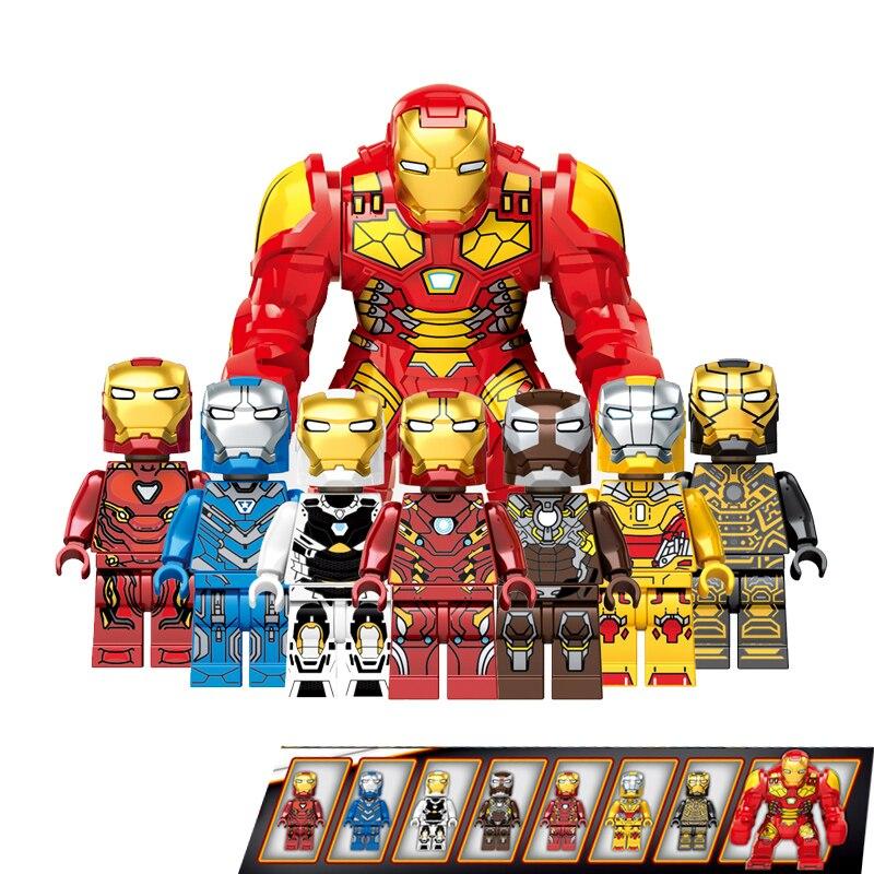 80 pz/lotto Legoings Avengers Endgame Iron Man 7 In 1 Marvel Building Blocks Action Figure Giocattoli di Modello per il Regalo dei bambini DLP909380 pz/lotto Legoings Avengers Endgame Iron Man 7 In 1 Marvel Building Blocks Action Figure Giocattoli di Modello per il Regalo dei bambini DLP9093