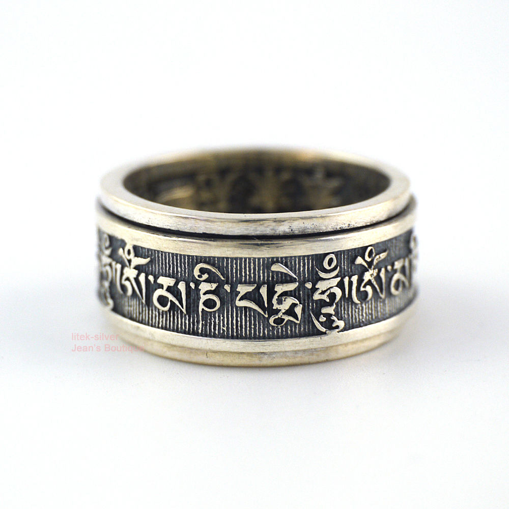 Tibetan Sterling Silver Rings Wholesale