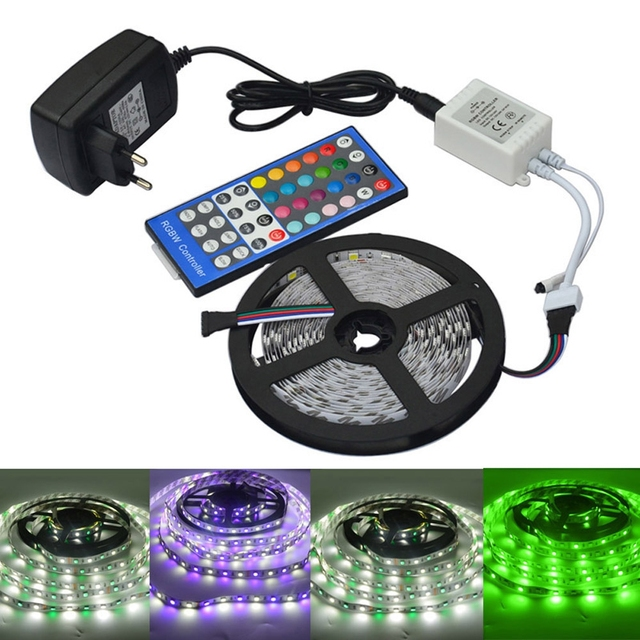 Led strip color changing 5m 5050 rgbw led light strip remote led strip color changing 5m 5050 rgbw led light strip remote controller12v aloadofball Gallery