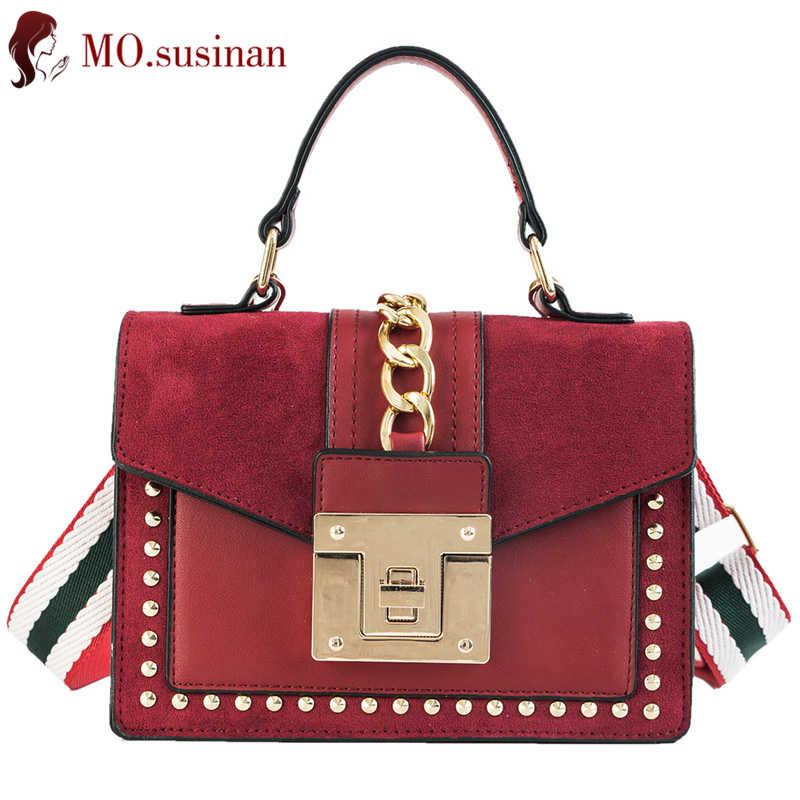590fca27cfee Leather flap handbag small crossbody bags for women 2018 Retro ladies  shoulder messenger bag female rivet