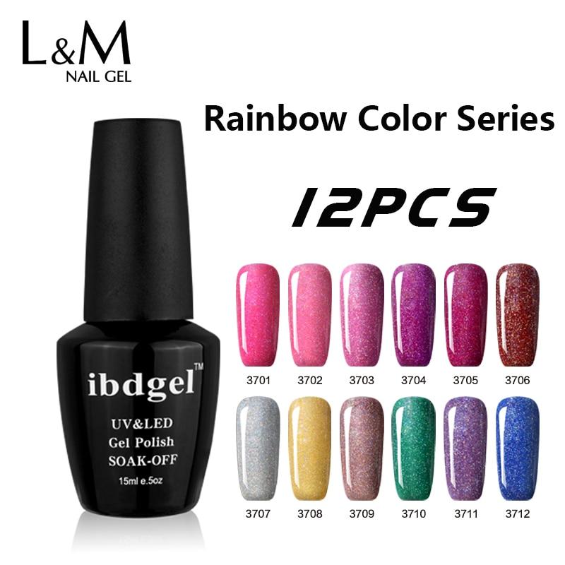 Nail Gel Brands: Aliexpress.com : Buy 12 Pcs Rainbow Gel UV Nail Polish Set