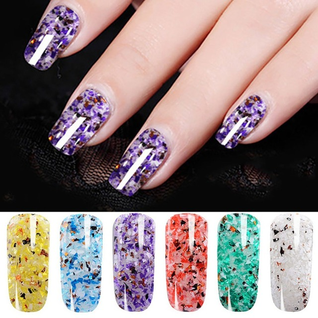 6 Color Marble Nail Manicure UV Nail Gel Polish Nail Art Lacquer ...