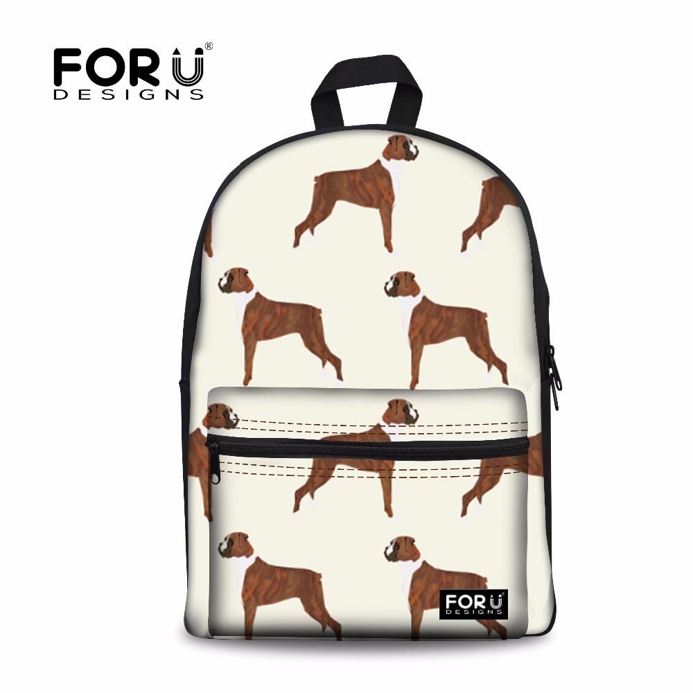 914c734713 FORUDESIGNS Cute Boxer Dog 3D Printing Backpacks for Women Casual Shoulder  Bags Daypack Teen Girls Boys School Bagpack Rucksack