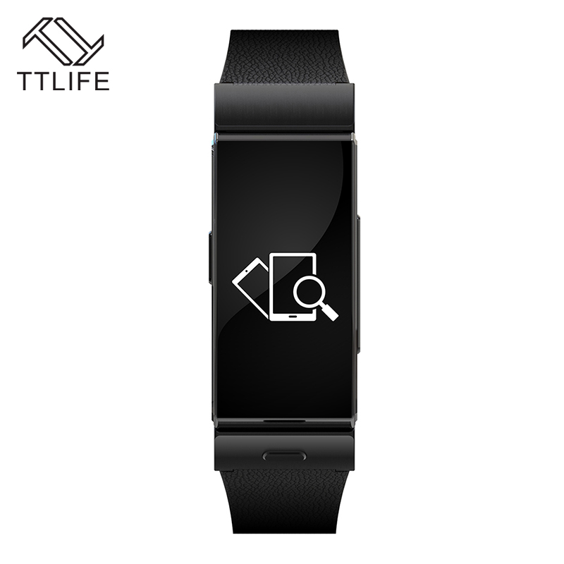 ФОТО 2017 TTLIFE Leather Bluetooth Smart Bracelet Wristband Phone Call Earphone Heart Rate Touch Screen for iPhone xiaomi Smartphones