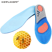 KOTLIKOFF Silicone Gel Insoles Man Women Insoles Orthopedic Massaging Shoe Inserts Shock Absorption Shoepad Shoes Accessories